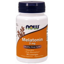 NOW FOODS Melatonina 3mg 90 lozenges