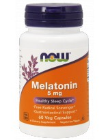 NOW FOODS Melatonina 5mg 60 vcaps
