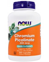 NOW FOODS Chrom 200 mcg 250 vkaps.
