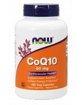 NOW FOODS Koenzym Q10 60 mg 180 vcaps.