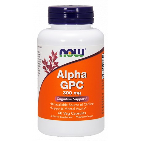 NOW FOODS Alpha GPC 300mg 60 vcaps.
