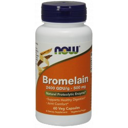 NOW FOODS Bromelain 500mg 60 vcaps.