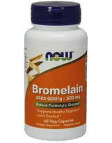NOW FOODS Bromelain 500 mg 60 vcaps.