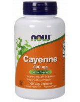 NOW FOODS Cayenne 500 mg 100 kaps.