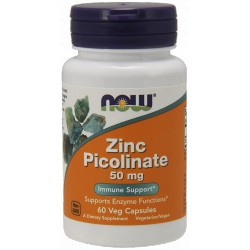 NOW FOODS Zinc Picolinate 50 mg 60 vcaps.