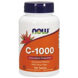 NOW FOODS Witamina C-1000 Sus.Release 100 tabl.