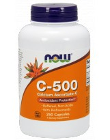 NOW FOODS Vit. C-500 Calcium Ascorbate 250 kaps.