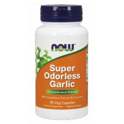 NOW FOODS Super Odorless Garlic Extract 90 vcap