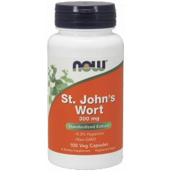 NOW FOODS St. Johns Wort 300mg 100 vcaps.