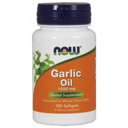 NOW FOODS Garlic Oil 1500mg 100 gels.
