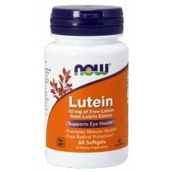 NOW FOODS Lutein 10mg 60 gels.
