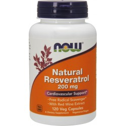 NOW FOODS Resveratrol with Red Wine Ext. 120cap