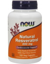 NOW FOODS Resveratrol with Red Wine Ext. 120 kaps.