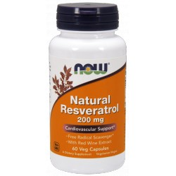 NOW FOODS Resveratrol with Red Wine Ext. 60caps