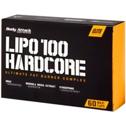 Body Attack Lipo 100 Hardcore 60 kaps.