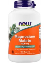 NOW Foods Magnesium Malate 1000 mg - 180 tabl.
