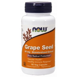 NOW FOODS Grape Seed 60mg 90 vcaps