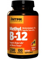 JARROW FORMULAS Methyl B-12 2500mcg 100 lonzoges.