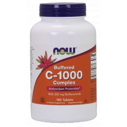 NOW Foods Vitamin C-1000 - 180 tablets