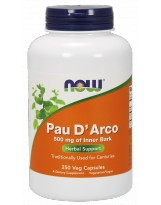 NOW Foods Pau D' Arco 500mg 250 kaps.