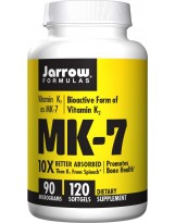 JARROW FORMULA Witamina K-2 MK7 90mcg 120 gels.