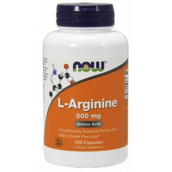 NOW Foods L-Arginine 500mg 100 kaps.