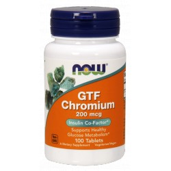 NOW FOODS GTF Chrom 200mcg 100 tabl.
