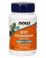 NOW FOODS GTF Chrom 200 mcg 100 tabl.
