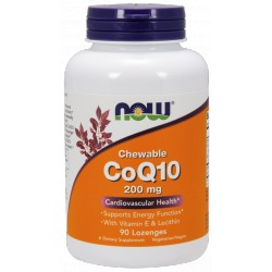 NOW FOODS Koenzym Q10 200mg Chewables 90 tabl.