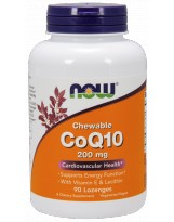 NOW FOODS Koenzym Q10 200 mg Chewable 90 tabl.