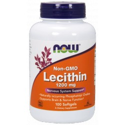 NOW Foods Lecytyna 1200 mg - 100 kaps.