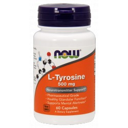 NOW Foods L-Tyrozyna 500mg 60 kaps