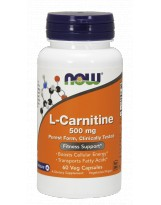 NOW FOODS L-Carnitine 500mg 60 kaps.