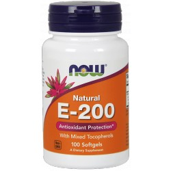 NOW FOODS Witamina E-200 Mixed Tocopherols 100 kaps.