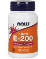 NOW FOODS Witamina E-200 with Mixed Tocopherols 100 kaps.