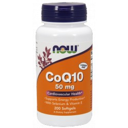NOW FOODS Koenzym Q10 50mg 200 kaps.
