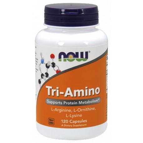 NOW Foods Tri-Amino (Arginine, Ornithine, Lysine) 120 capsules