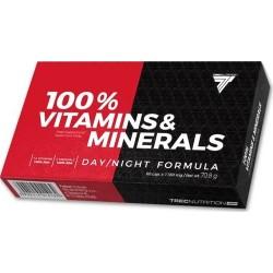 TREC 100% Vitamins & Minerals 60 kaps.
