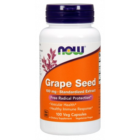 NOW FOODS Grape Seed 100 mg 100 vcaps
