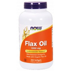 NOW FOODS Flax Oil 1000mg 250 gels.