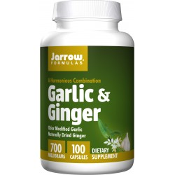 JARROW Garlic & Ginger 700 mg 100 kaps.