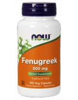 NOW Foods Fenugreek (Kozieradka) 500 mg 100 weg.kaps.