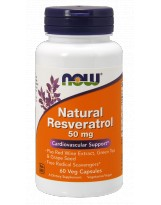 NOW Foods Natural Resveratrol 50 mg 60 kaps.