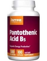 JARROW FORMULA Kwas pantotenowy B5 500 mg 100 kaps.