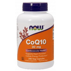 NOW FOODS Koenzym Q10 30 mg 240 kaps.