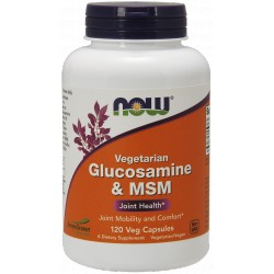 NOW FOODS Glukozamina MSM Vegetarian 120 vcaps.