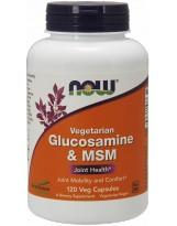 NOW FOODS Glukozamina MSM Vegetarian 120 weg.kaps.
