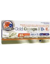 OLIMP Gold Omega 3 D3+K2 30 kaps.
