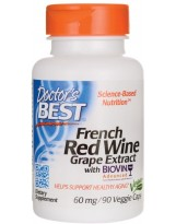 Doctors Best French Red Wine Grape Extract 60 mg 90 weg.kaps.