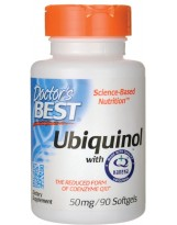 Doctors Best Ubiquinol with Kaneka's QH® 50mg 90 gels.